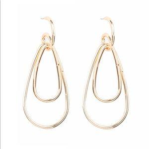 Droppin Drama Gold hoop earrings